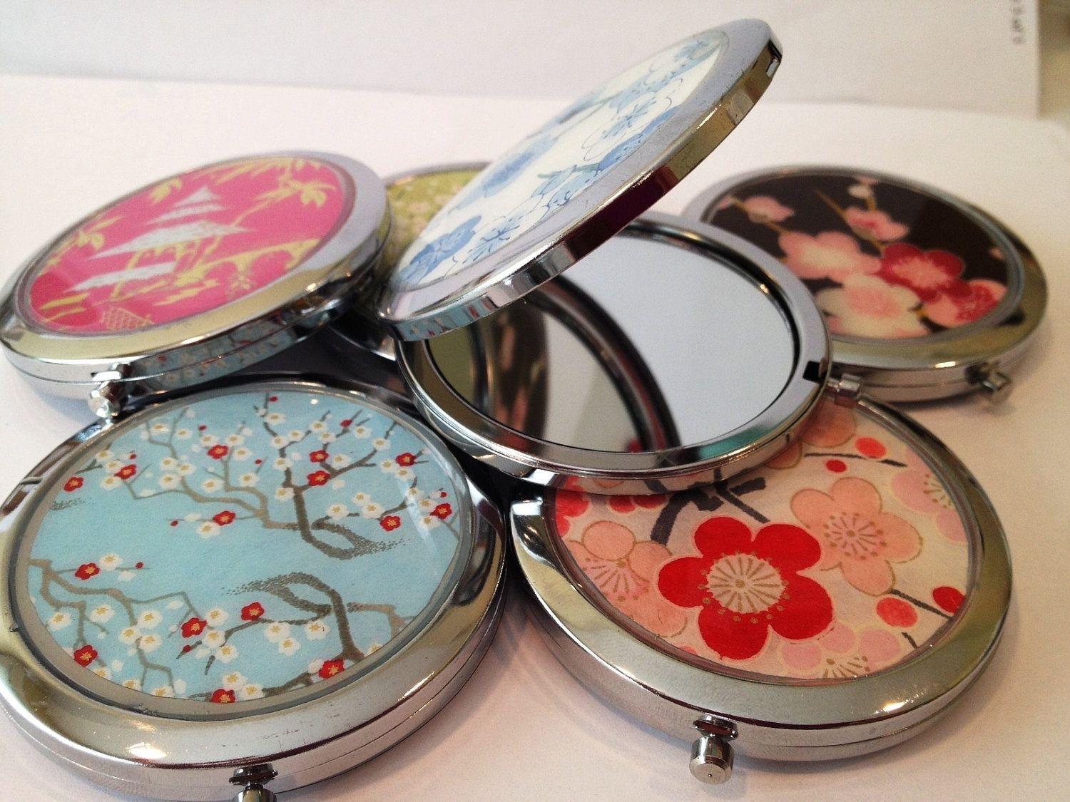 Handmade Custom Double Sided Compact Mirrors By Glassology