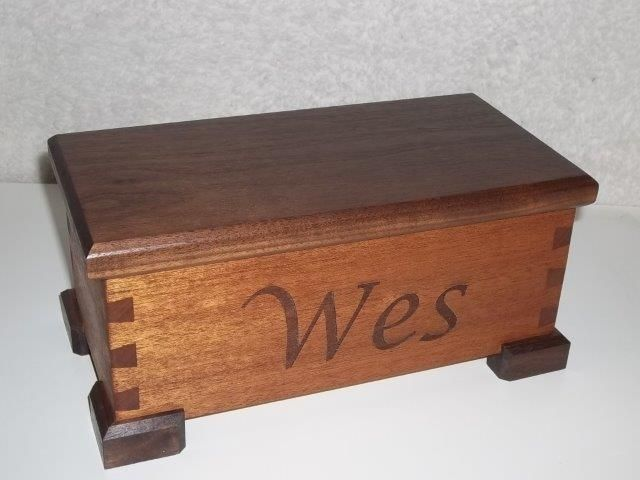 Handmade Small Dovetail Box With Hinged Lid By Rafter K
