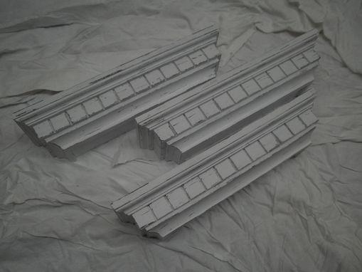 Custom Made Black Distressed Floating Wall Shelf Or Photo Ledge