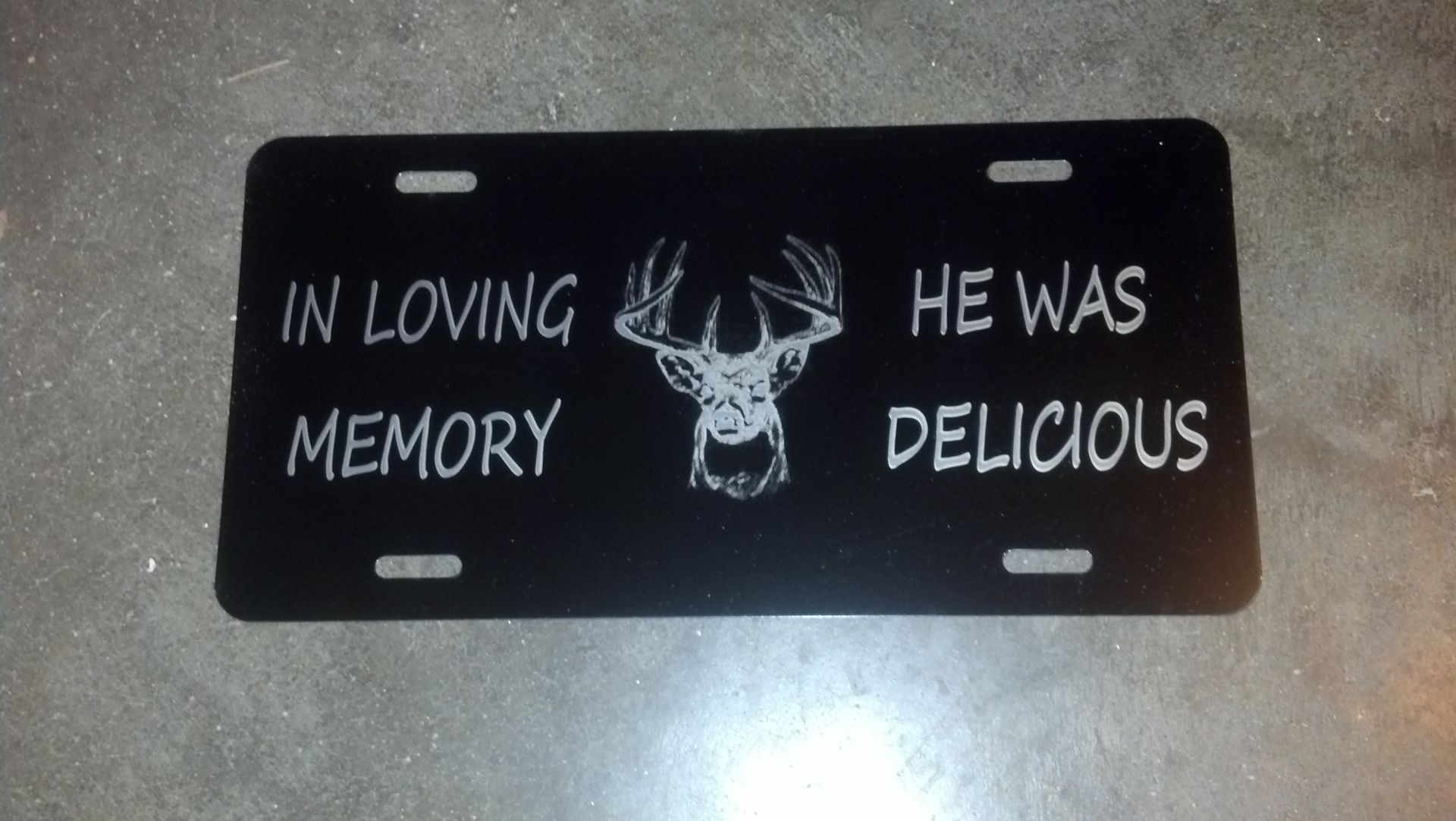 Hand Made Personalized License Plate Laser Engraved By