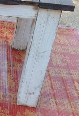 Custom Reclaimed Wood Chunky Leg Parsons Style Farmhouse