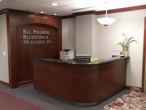 Hand Made Reception DeskLibrary And Conference Room By Edko Cabinets Llc