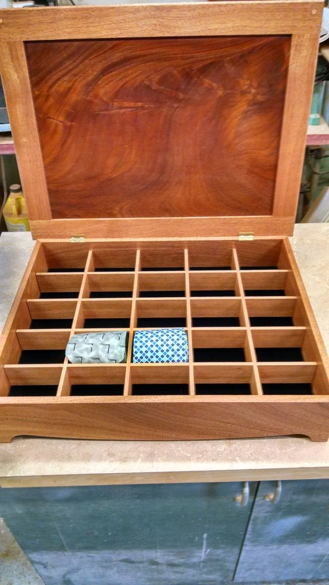 Custom Mahogany Tie Organizer By Mountain Top Woodcrafts