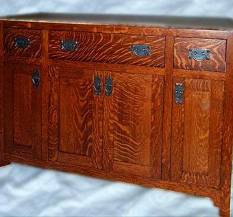 solid oak mission style vanity