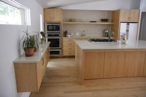 Custom Made Modern Kitchen by Studio Wetz   CustomMade.com on Light Maple Cabinets With Black Countertops  id=36917