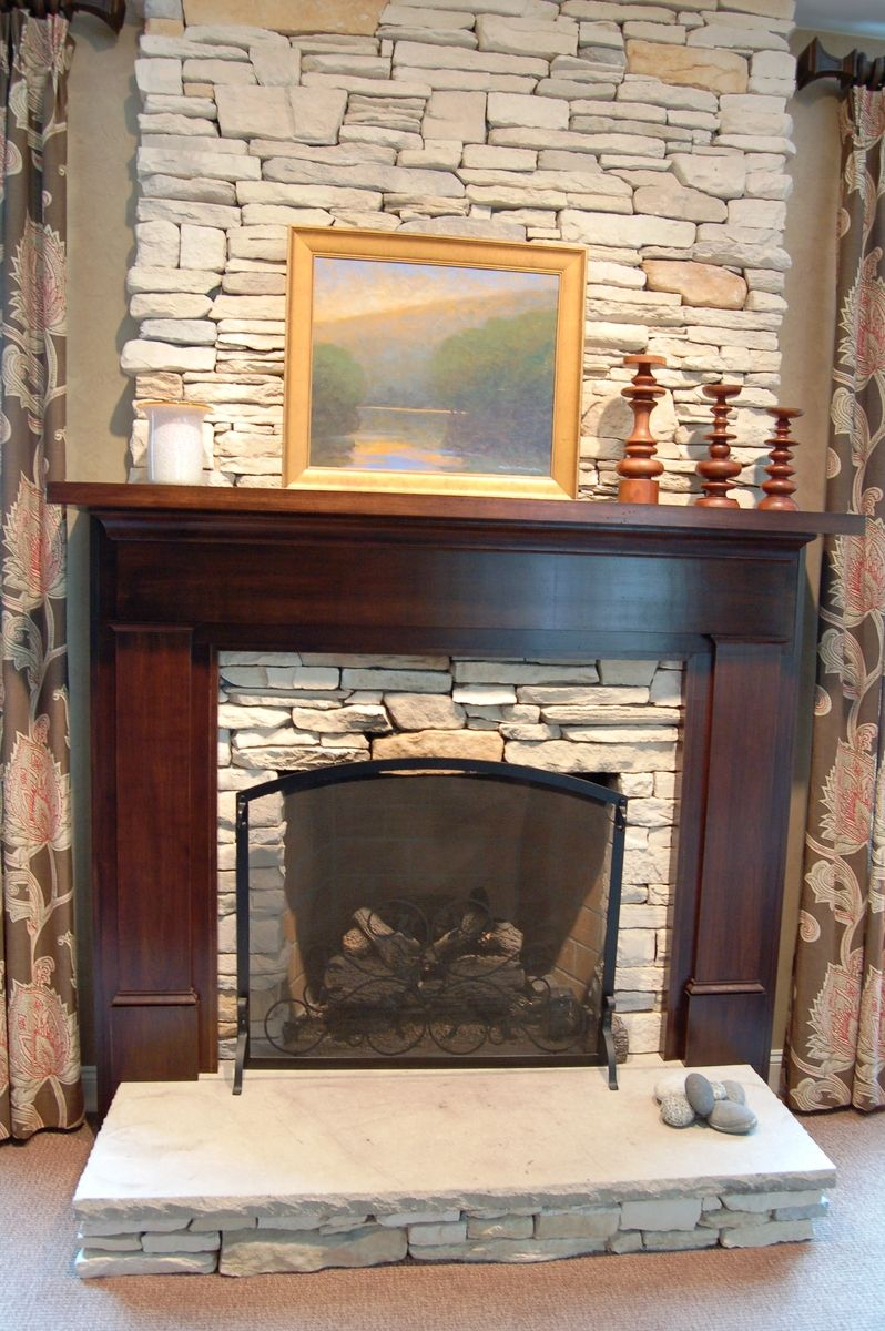 Custom Craftsman Fireplace Surround By Nh Accents Fine