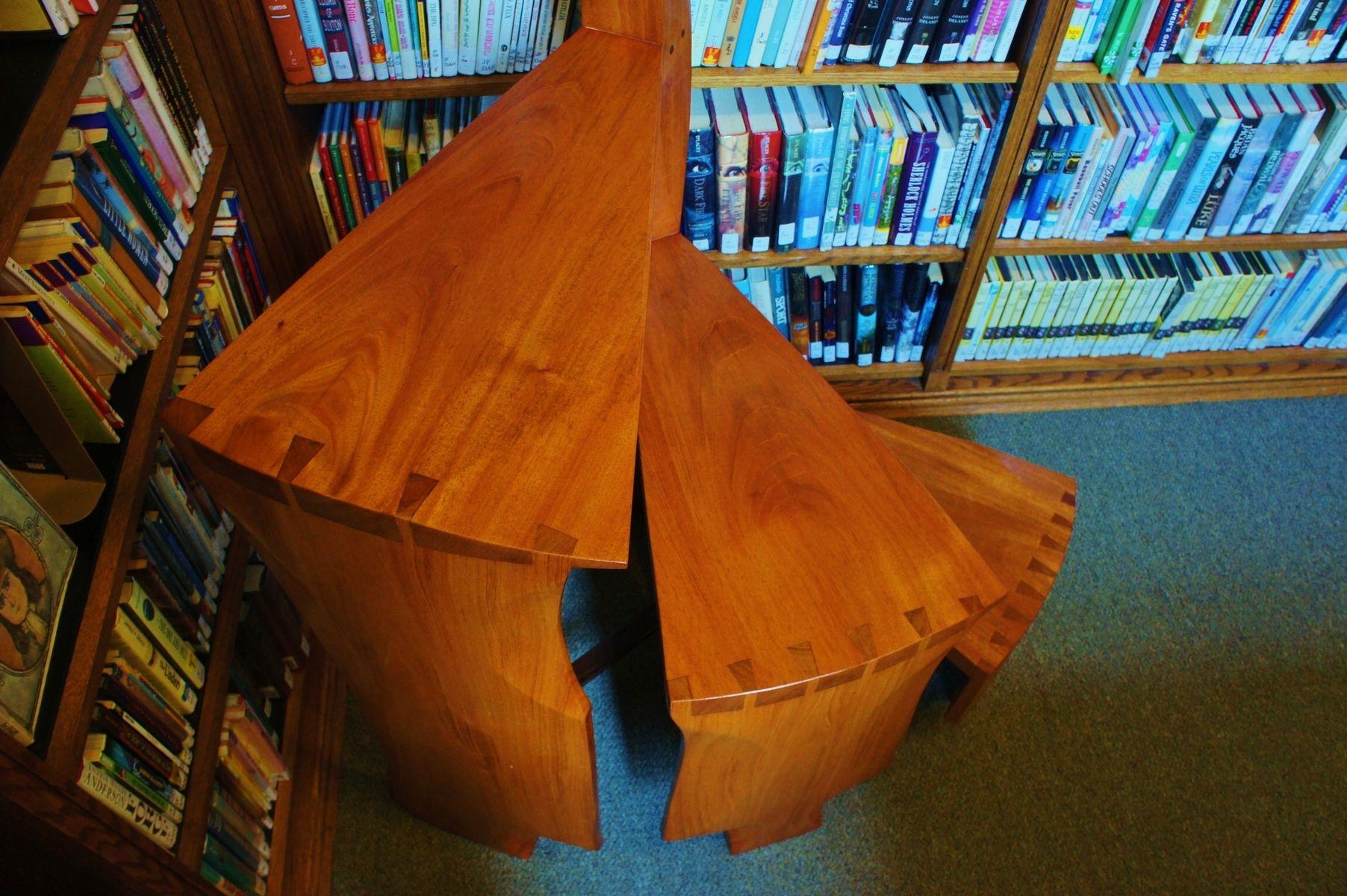 Custom Spiral Library LadderStep Stool By Bucks County Craftmasters