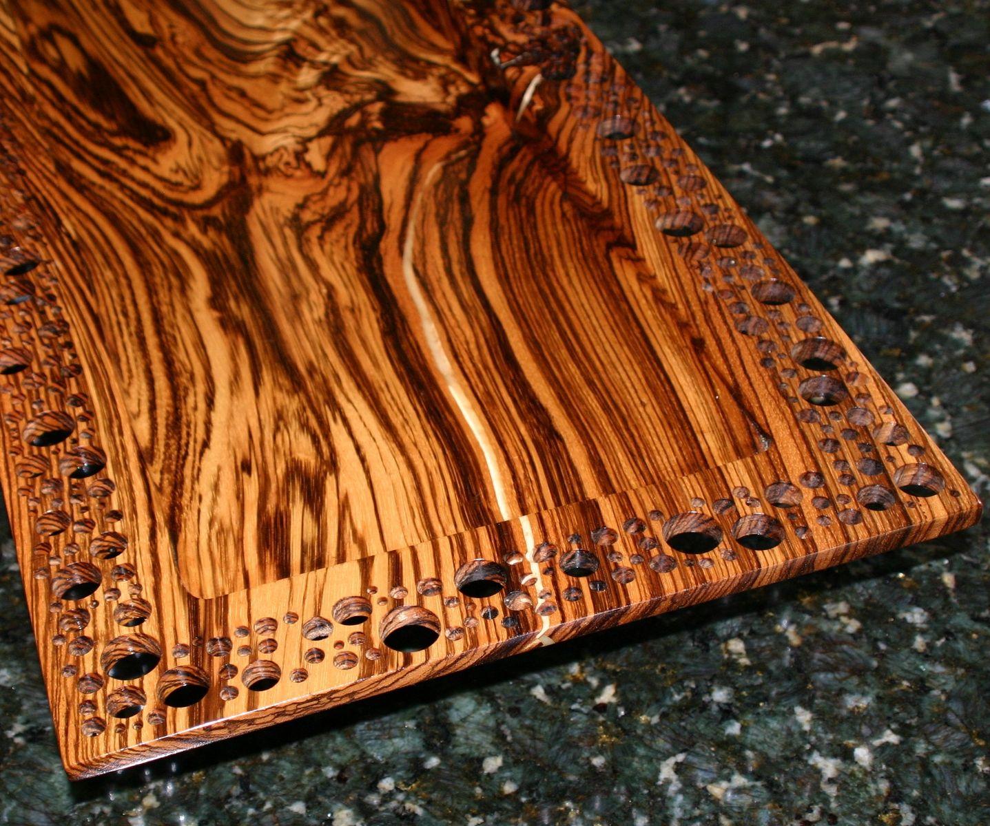 Custom Zebrawood Center Piece By Carolina Wood Designs