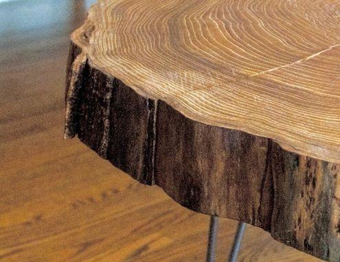 Custom Natural Live Edge Round Slab Side Table Coffee