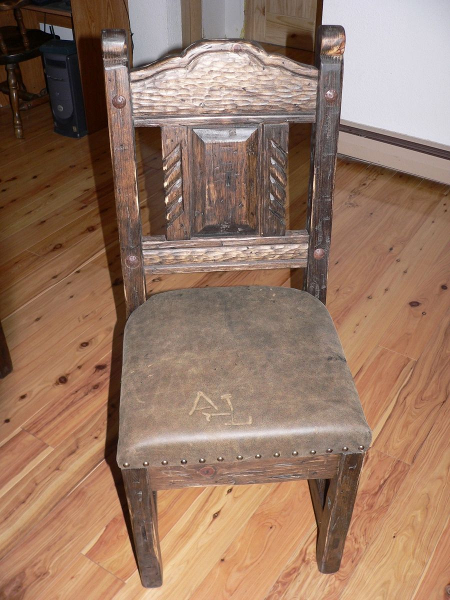Hand Crafted Southwest Distressed Dining Chair With