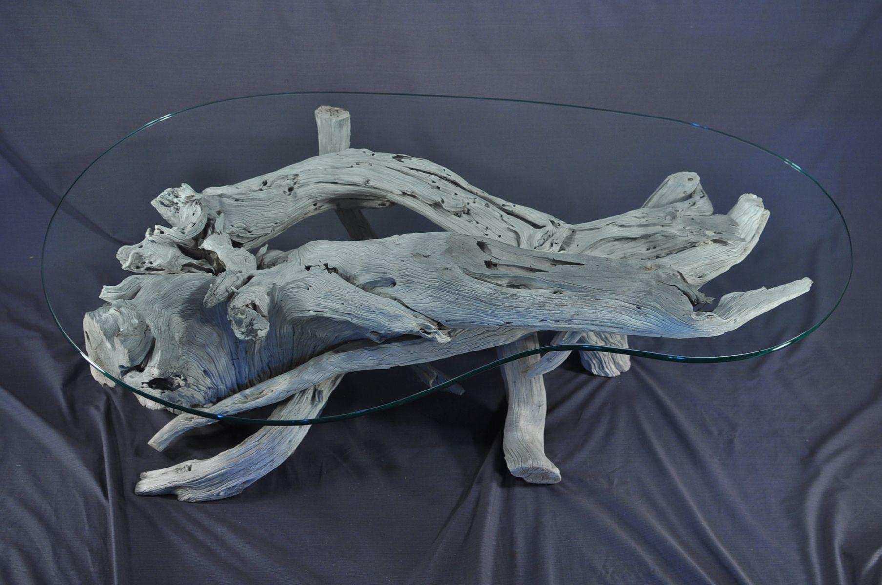 Handmade Sun Bleached Driftwood Coffee Table By Driftwood Decor