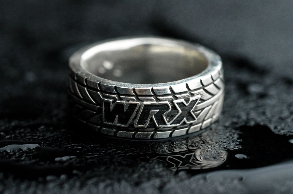 Hand Made Wrx Tire Tread Ring Customizable By Rock My