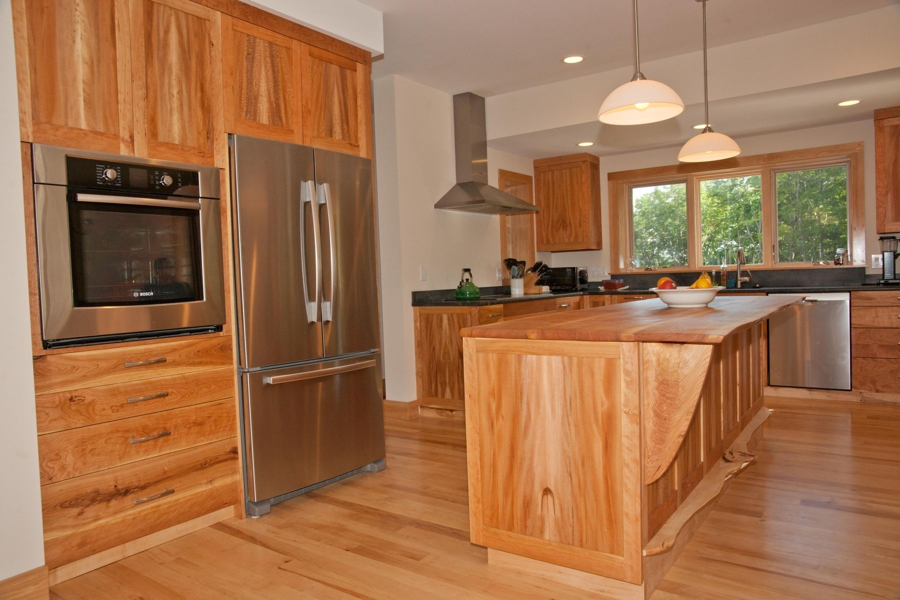 Handmade Cherry, American Lacewood, And Maple Kitchen ... on Maple Cabinets Kitchen  id=65470