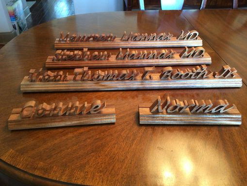Buy A Custom Hand Made Wooden Desk Name Plate Made To Order From Wooden Concepts LLC