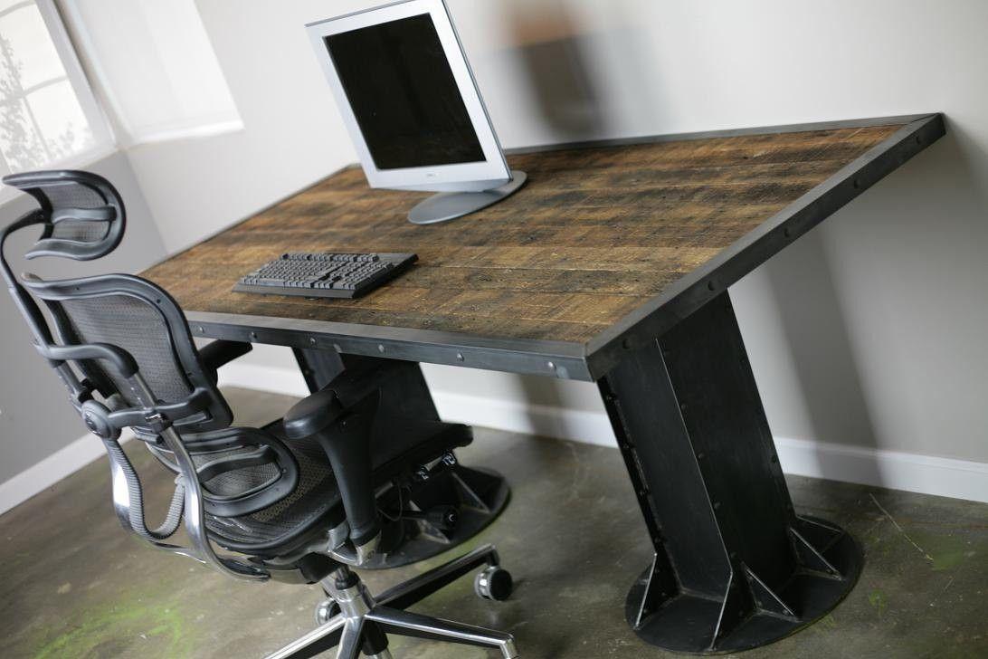 Buy A Handmade ModernIndustrial I Beam Desk Vintage