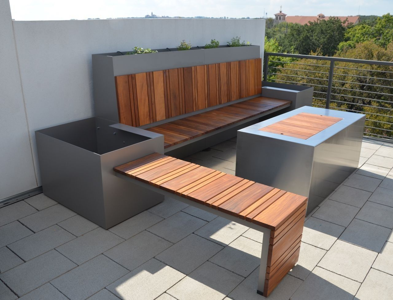 Handmade Outdoor Seating Area And Custom Fire Pit By