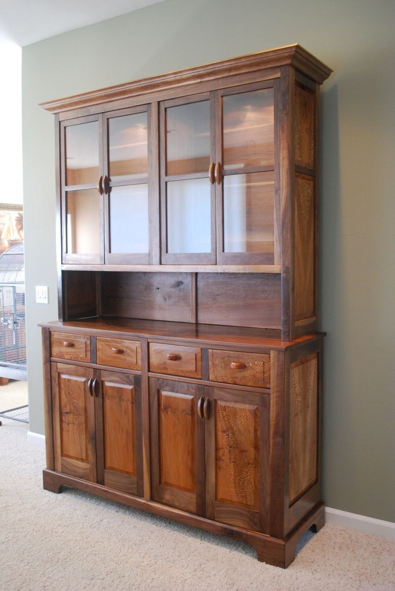 Hand Crafted Walnut And Sycamore China Hutch by Jon S ...