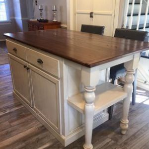 Todd Gladfelter  Worthys Run Furniture   Hedgesville  WV Kitchen Island With Bookshelf by