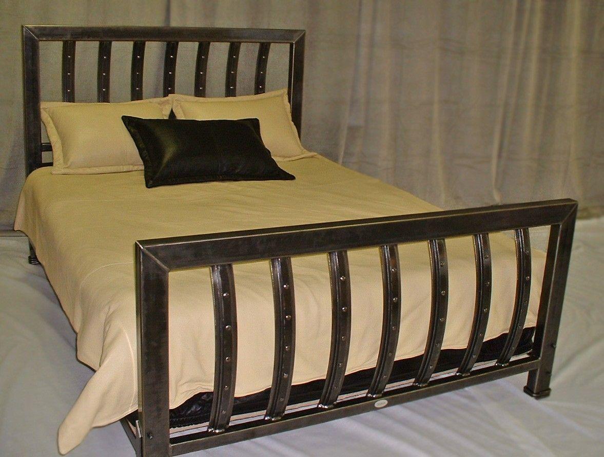 Handmade Iron Queen Size Bed By Desiron Custom Metal