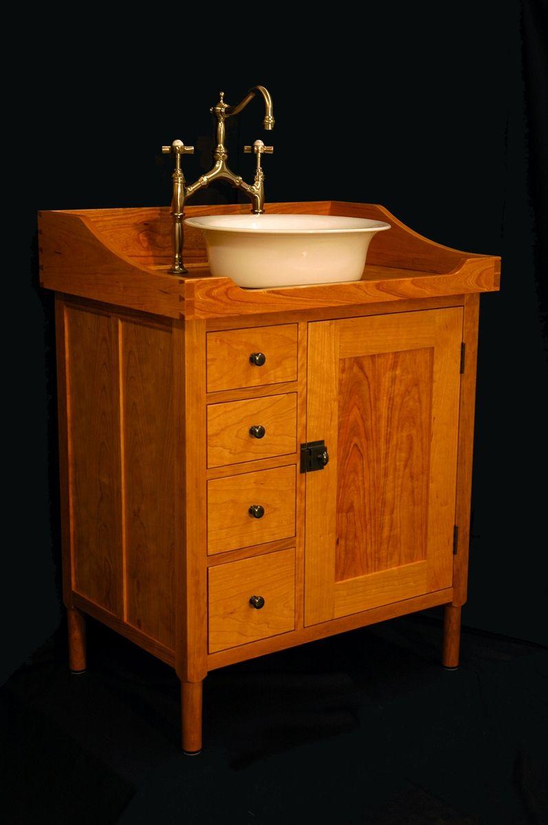 Custom Made Shaker Vanity Washstand By W Andrew Maisel