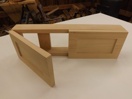 Hand Crafted Small Wooden Shelf/Cabinet For Above Bathroom