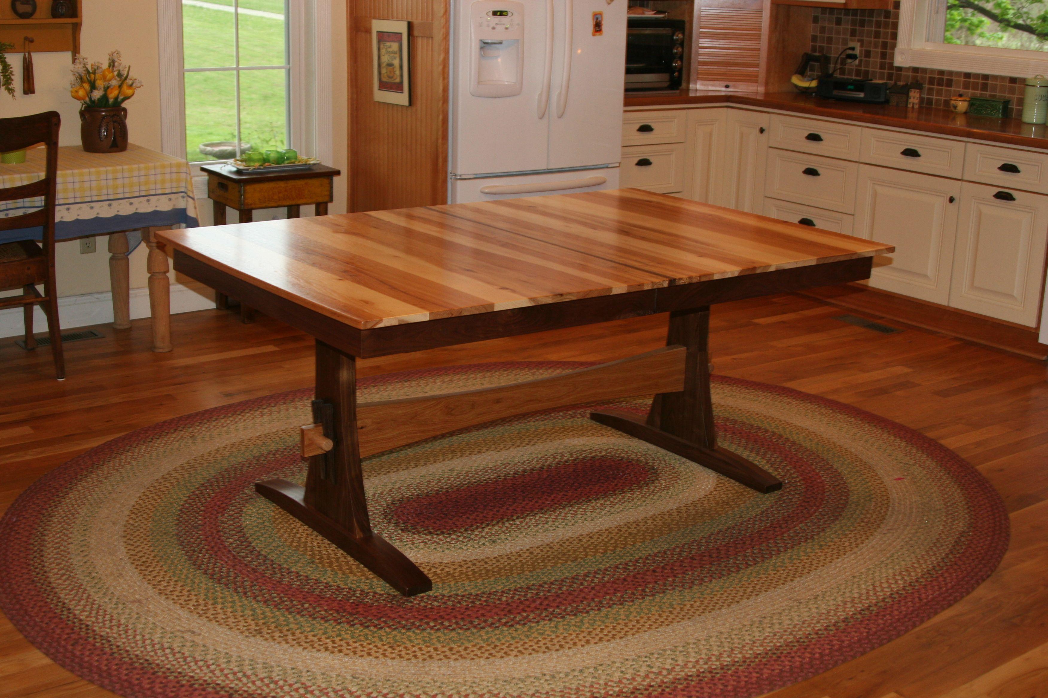 Buy A Custom Expanding Farmhouse Table Trestle Table