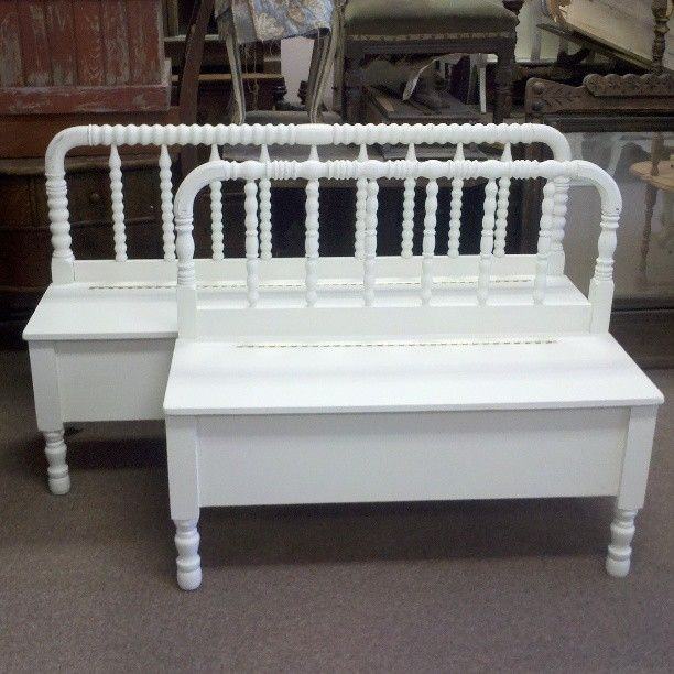 Handmade Spool Headboard Bench With Storage By Playing On