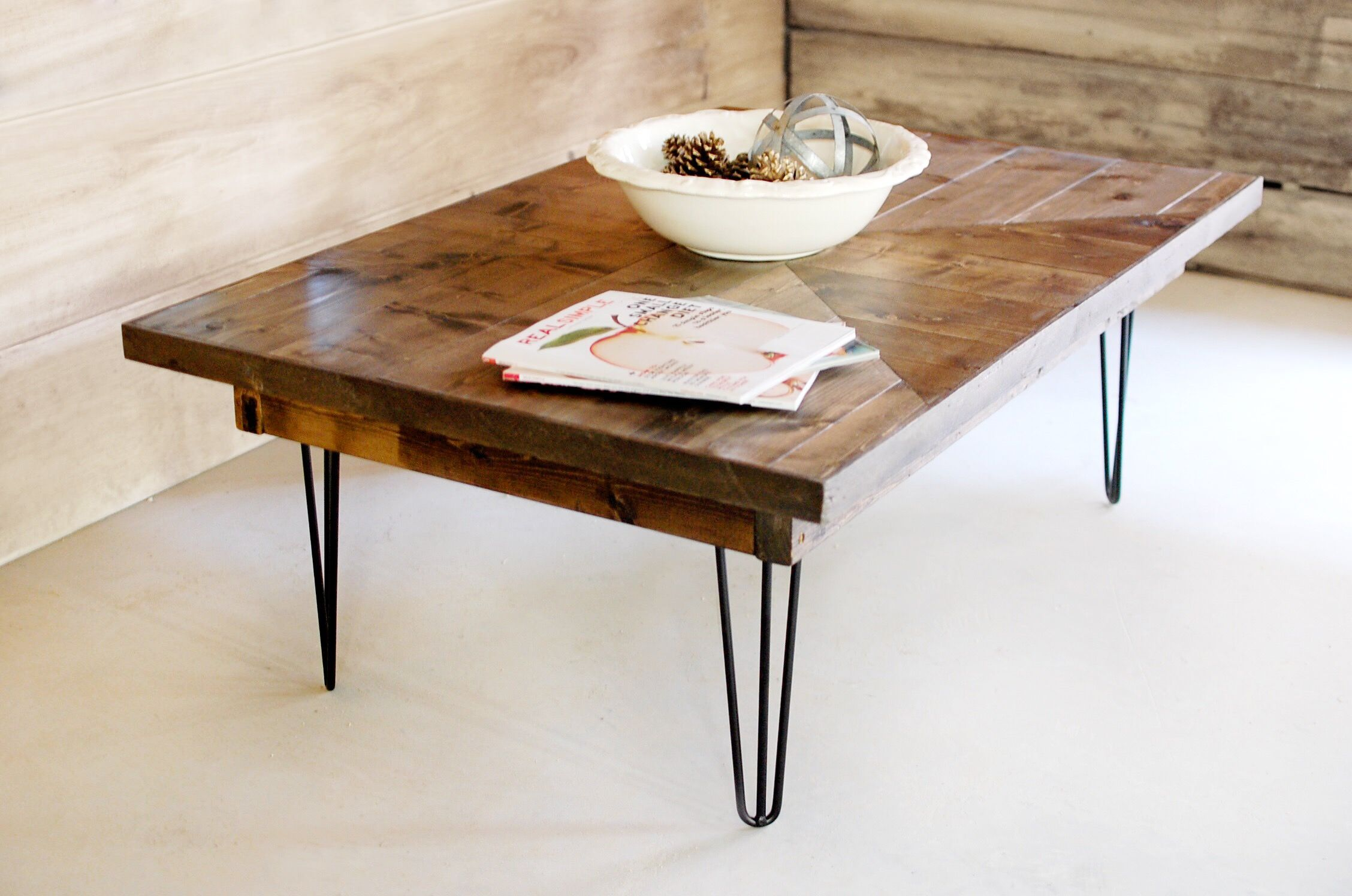 Hand Made Industrial Mid Century Modern Wood Coffee Table By Southern Sunshine Custommade Com