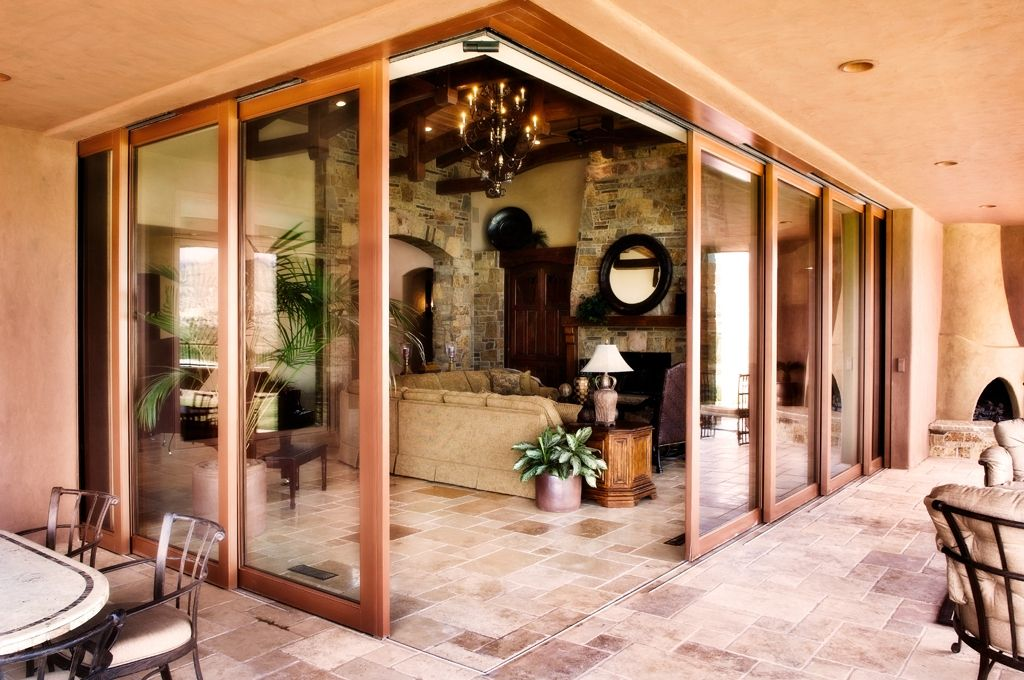 Hand Made Corner Multi Slide Automated Door System By