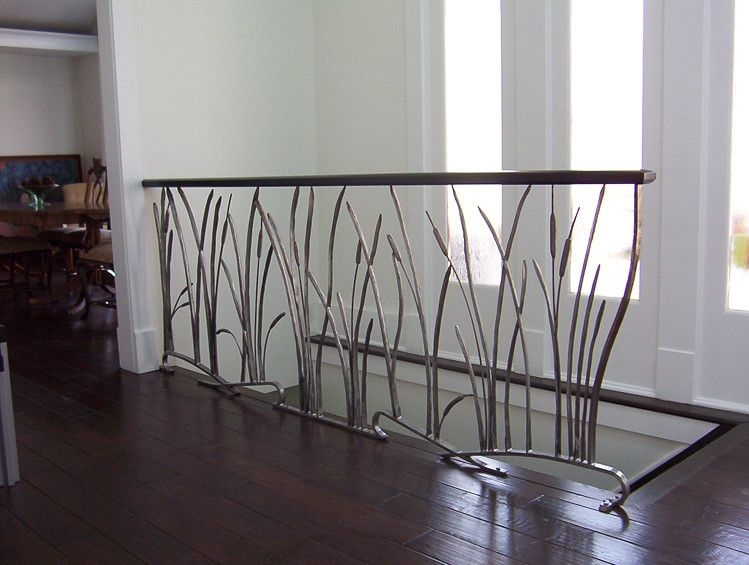 Custom Railings And Handrails Custommade Com   Rod Iron Interior Railings   Iron Work   White   Steel   Route   Staircase