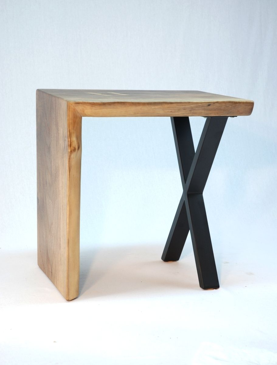 asymmetric waterfall slab end table