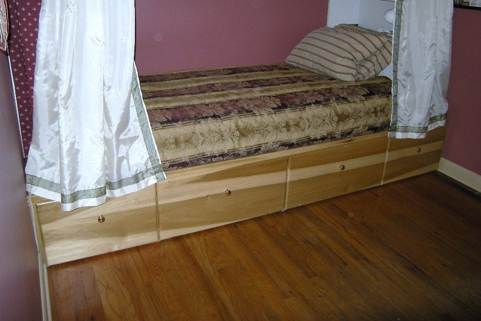 Custom Made Under Bed Storage Cabinet By Accent Products