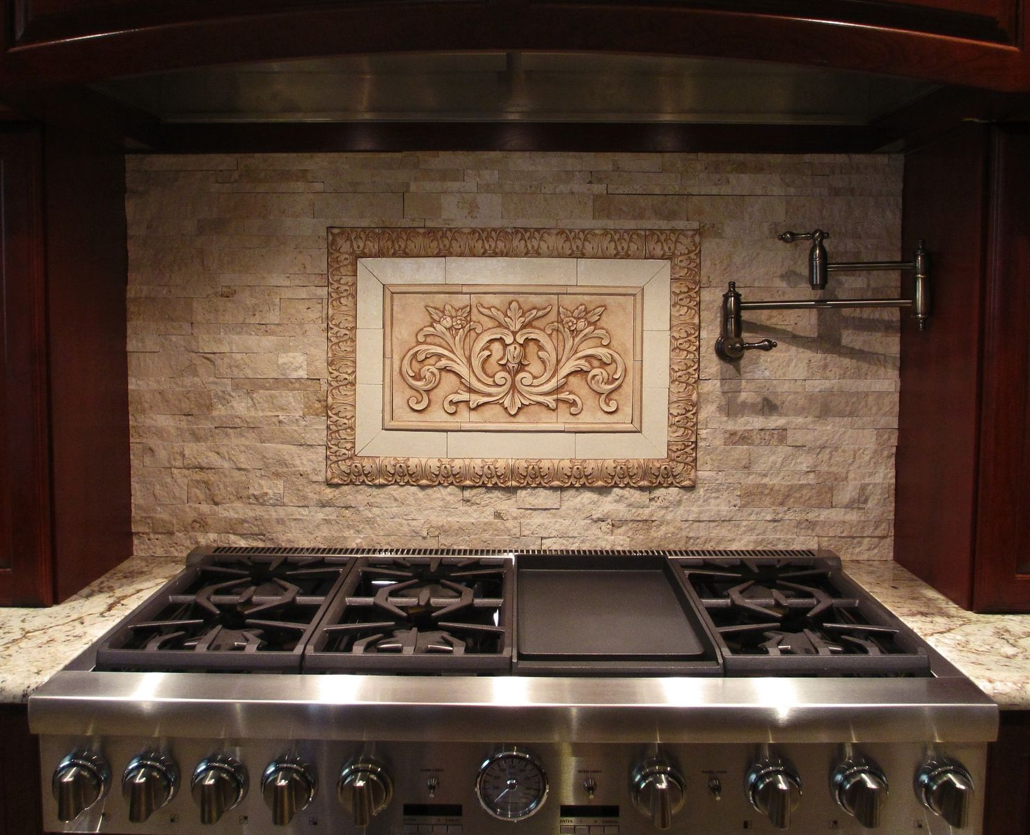 Decorative Tile Inserts Kitchen Backsplash