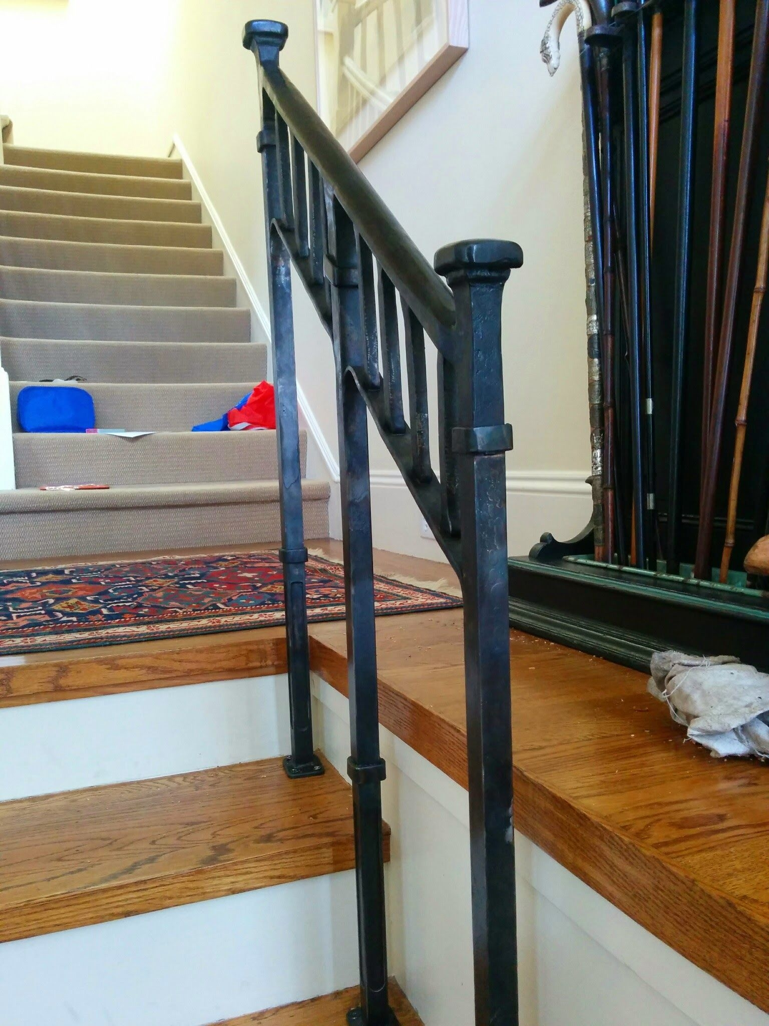 Custom Craftsman Style Stair Rail By Clay And Steel   Craftsman Style Stair Railing