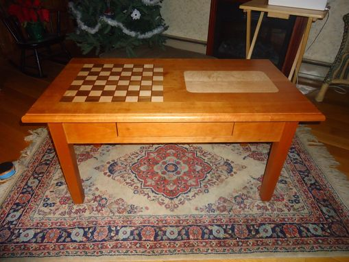 Hand Made ChessCribbage Coffee Table By Hitchcock