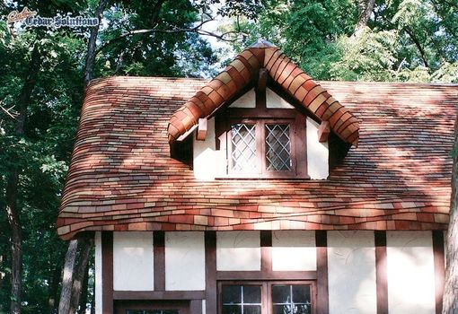 Hand Crafted Gingerbread Roof Using Cedar Shingles On A