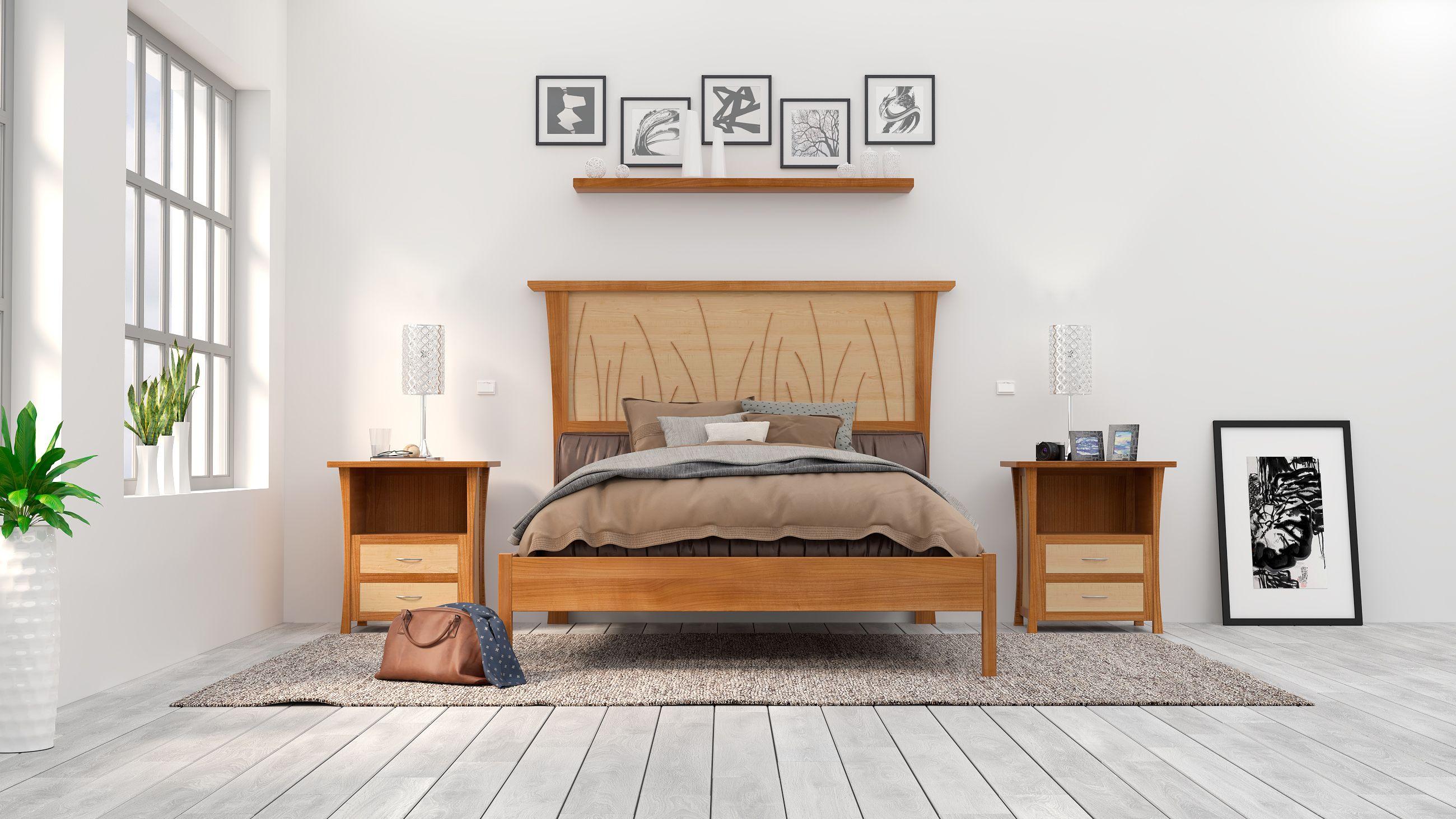 custom bed frame queen headboard