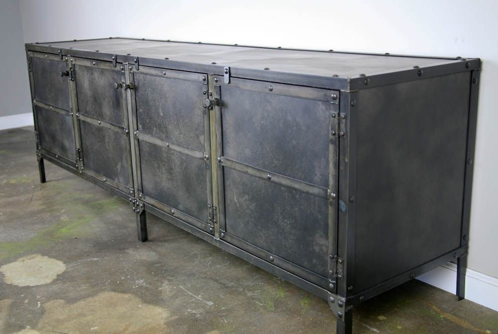 Buy A Hand Made Media Console/Credenza All Steel