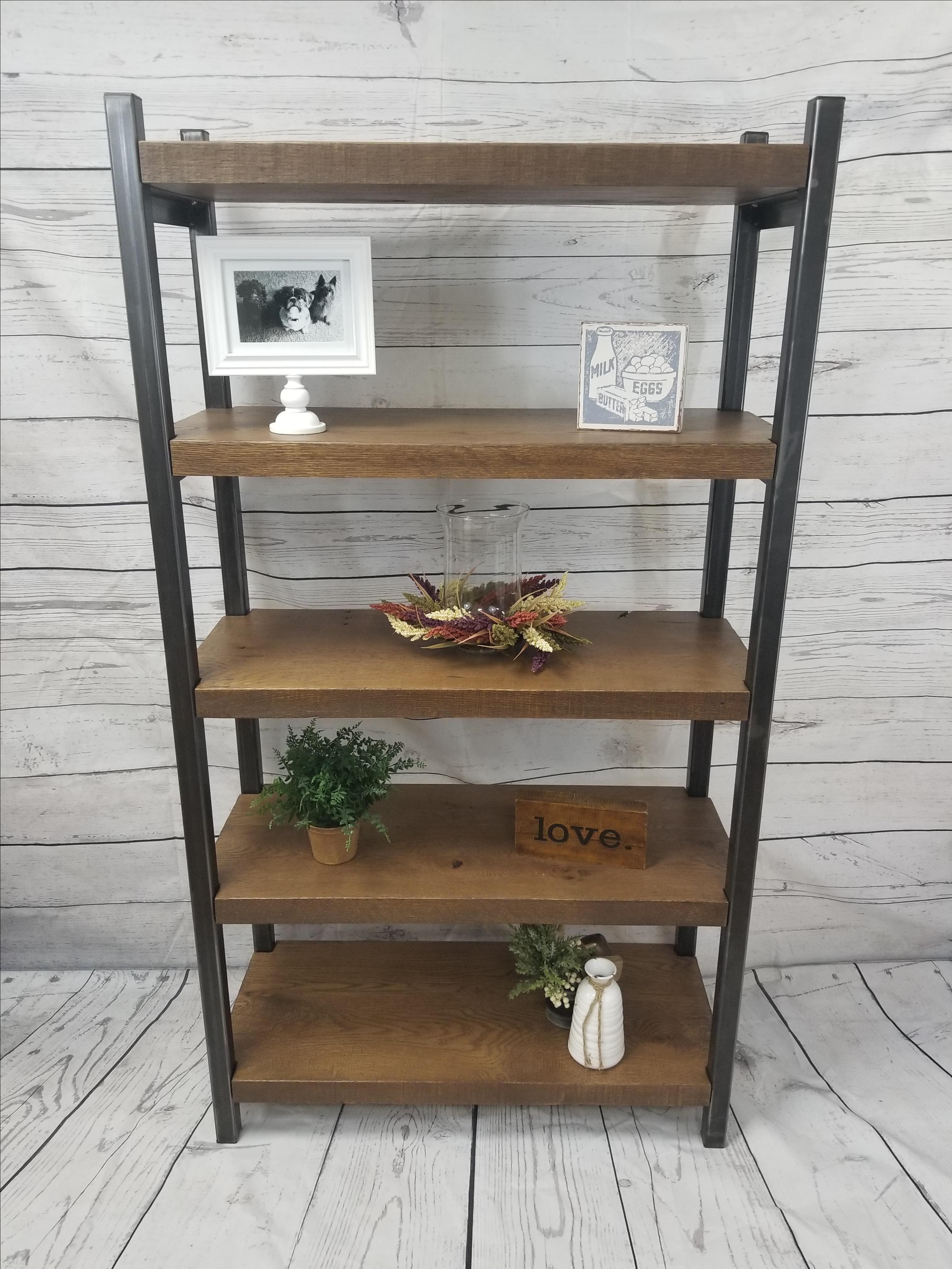 Buy Custom Made Reclaimed Wood Bookshelf Rustic Bookcase