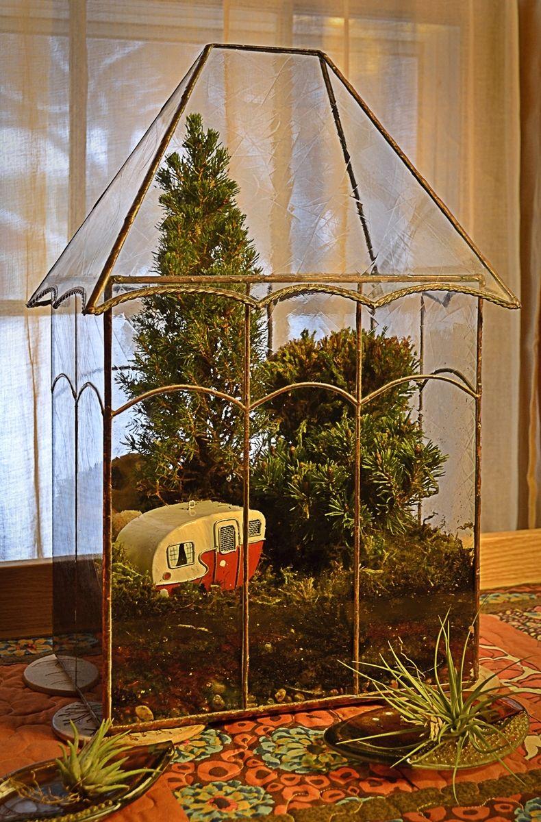 Handmade Victorian Terrarium Display Case By BC Studios
