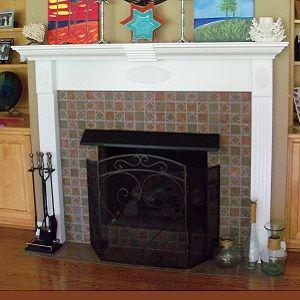 custom made ornamental fireplace mantle