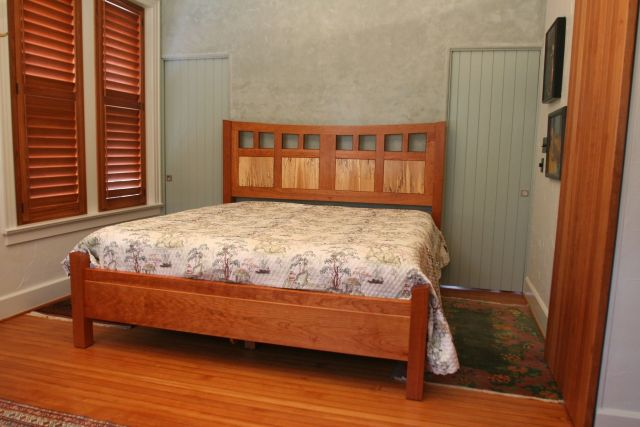 Hand Made Tollet Cherry Bed by White Wind Woodworking