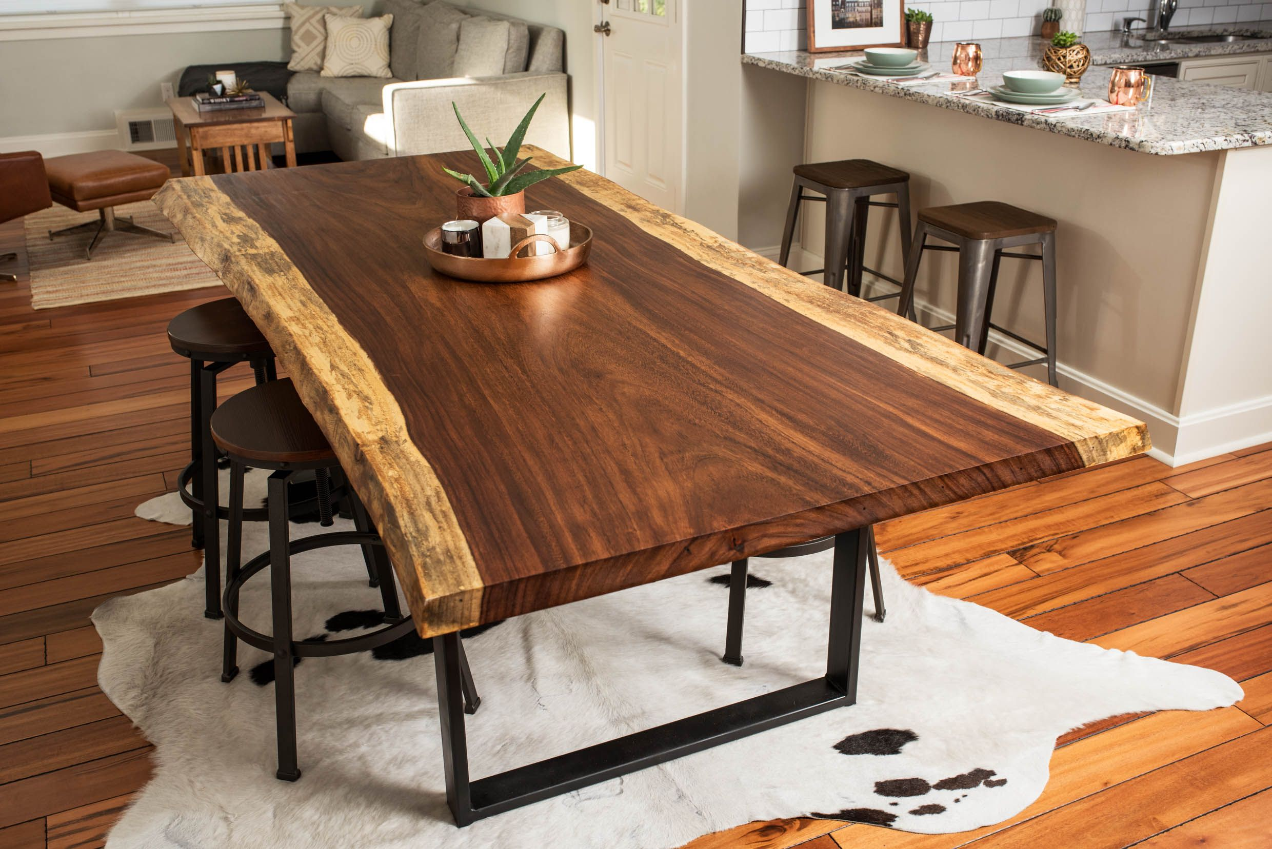 Buy A Hand Made Live Edge Acacia Dining/Conference Table