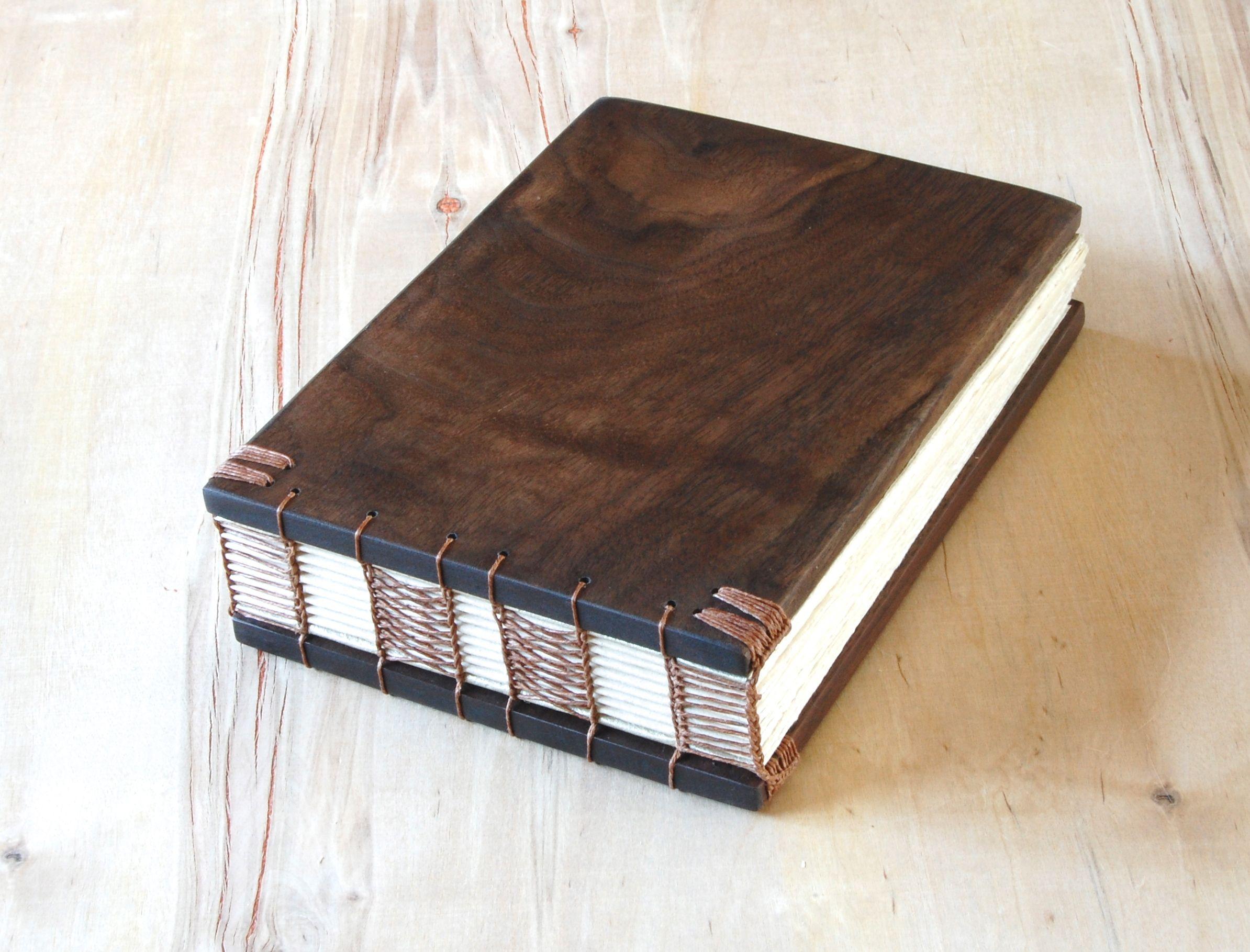 Buy A Custom Made Wood Wedding Guest Book Black Walnut