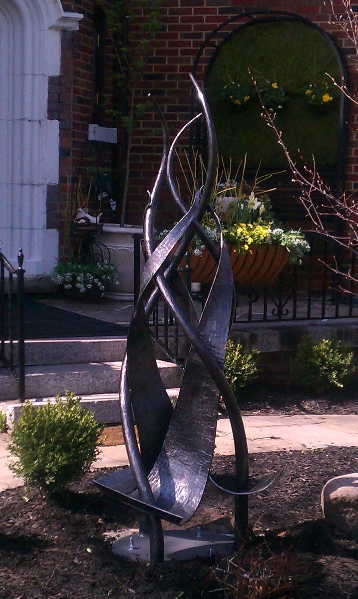 Handmade Hand Forged Outdoor Iron Sculpture By Arc Iron