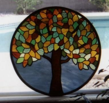 Custom Autumn Tree Stained Glass Window By Visions Stained