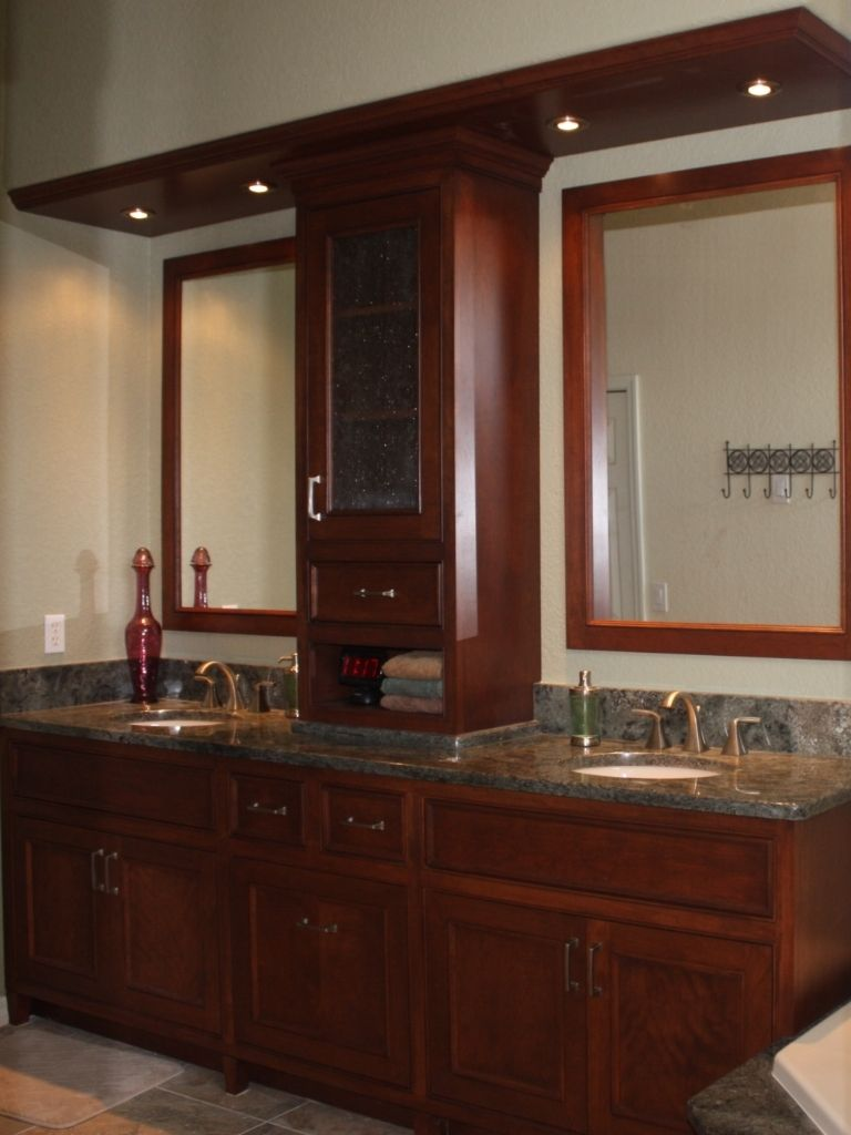 Hand Crafted Master Bath Vanity By Aakb IncCustom Cabinetry