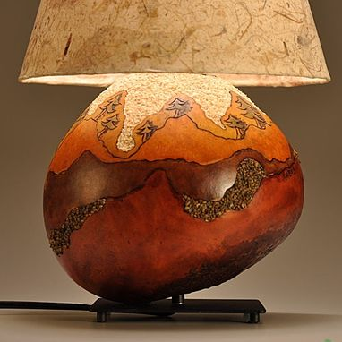 Custom Gourd Lamp Landscape Tree Design By Gourgeous