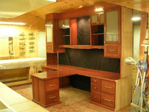 Hand Made Custom HisHer Office Desk By Larue Woodworking