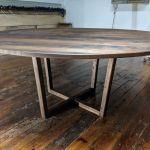 Hand Crafted Solid Black Walnut Danish Modern Mid Century Modern Round Pedestal Dining Table By William Ney Llc Custommade Com